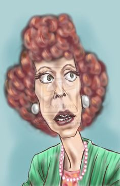 Carol Burnett as Eunice - Creative Art in Digital Art by Alan Davis in Portfolio TV at Touchtalent Funny Caricatures, Celebrity Caricatures, Celebrity Drawings, Funny Face Drawings, Funny Faces, Caricature Artist, Caricature Drawing, Cartoon Art, Cartoon Characters