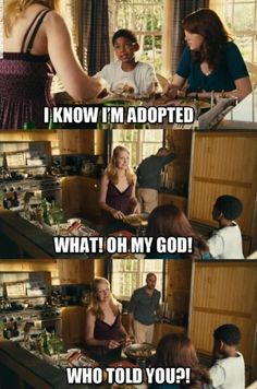 love that part In Easy A. I hope if I adopt, the relationship will be like this, open to talk about it.