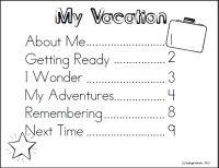 Awesome vacation journal for little ones!