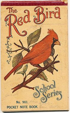The Red Bird school pocket notebook. This was a natural for Cardinal fans in Missouri ...
