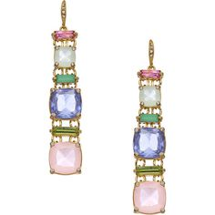 ABS Crystal Empress Earrings (435 CNY) ❤ liked on Polyvore featuring jewelry, earrings, multicolor jewelry, abs by allen schwartz jewelry, multi colored crystal earrings, multicolor earrings and earring jewelry