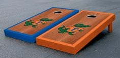 Florida Gators Rosewood Stain Cornhole Boards