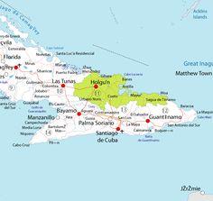 Holguin Cuba   Map of Holguín in Cuba
