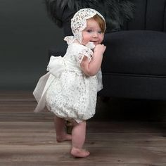Baby Girl Romper, Baby Girl Dresses, Baby Dress, Girl Outfits, Baby Girls, Baby Jumpsuit, Baby Baptism, Baptism Dress, Christening Outfit Girl