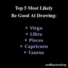 Zodiac Signs: Top 5 Most Likely Be Good At Drawing