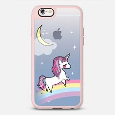Candy Unicorn - New Standard iPhone 6 Case in Pink Gray and Clear by @elorasaurus | @casetify