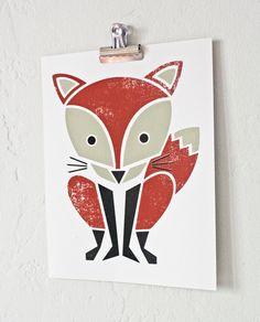 screen print fox. I want this.