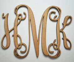 """Home Decor, 24"""" or 32"""" Wooden Monogram, Wall Art, Initial monogram,Unpainted, Unfinished,Wedding Decor on Etsy, $28.95"""