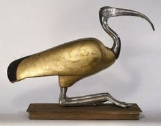 Ibis Coffin | 305-30 B.C.E. | Wood, silver, gold, and rock crystal, animal remains, linen | 42.5 x 20.3 x 55.9 cm