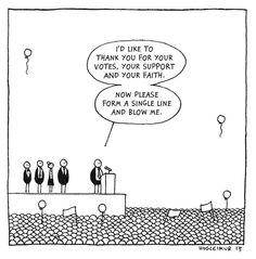 Schwarzer Humor von Hugleikur Dagsson: