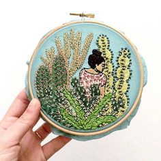 Illustrator Creates Exquisitely Embroidered Scenes That Look Like Detailed Drawings - My Modern Met