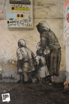 Street Art from around the Globe. #borondo http://www.widewalls.ch/artist/borondo/
