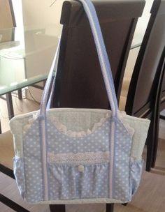 Tutorial, DIY, Passo à Passo Bolsa de Tecido Azul. http://www.vivartesanato.com.br/2016/04/tutorial-diy-passo-a-passo-bolsa-de-tecido-azul.html