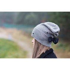 Gray beanie hat, Gray knit hat, Romantic wool beanie, Gray beanie hat... (215 PLN) via Polyvore featuring accessories, hats, grey knit hat, knit beanie, wool hat, gray knit hat i knit beanie hats