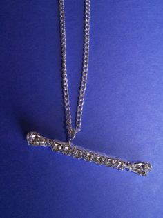 Rhinestone Baton Necklace - $11.00