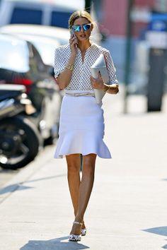 남자들이 좋아하는 여자 소개팅 패션 - 화이트 패션 코디