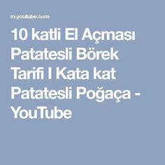 10 katli El Açması Patatesli Börek Tarifi I Kata kat Patatesli Poğaça - YouTube