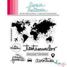 Set de sellos acrílicos Trotamundos Lora Bailora