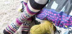 Neulo lämmittävät Otso-polvisukat |Finlayson naisen villasukat novita 7 veljestä