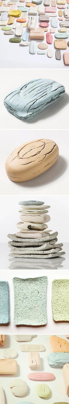 PORCELAIN soap & sponges <3 ceramics by honor freeman