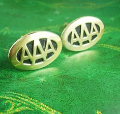Vintage AAA Cufflinks American Automobile by NeatstuffAntiques Travel Brochure, History Photos, Vintage Pictures, Automobile, Cufflinks, Rings For Men, Trending Outfits, Retro, American