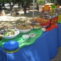 Planning a company picnic or casual wedding? Find a wide variety of picnic catering menus, fun and games, packages, casual wedding menus, and picnic ideas as well as a list of picnic locations to help! Baby 1st Birthday, Birthday Ideas, Paper Table, Chafing Dishes, Kindergarten Graduation, Catering Menu, Company Picnic, Picnic Time, Circus Theme