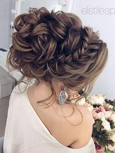 75 Chic Wedding Hair Updos for Elegant Brides - Hair/Beauty - Wedding Hairstyles Wedding Hairstyles For Long Hair, Wedding Hair And Makeup, Up Hairstyles, Pretty Hairstyles, Hair Makeup, Hairstyle Ideas, Perfect Hairstyle, Bridal Hairstyles, Hairstyle Wedding