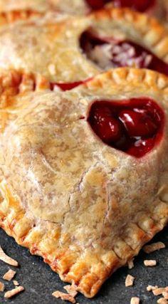 Toasted Coconut and Cherry Hand Pies - Use Pillsbury GF pie crust!