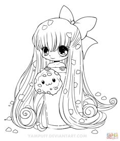 Cookie Girl coloring pages .