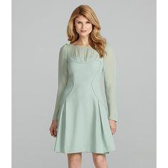 Antonio Melani Cara Long-Sleeve Georgette Dress ❤ liked on Polyvore