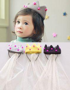 headband crown with veil