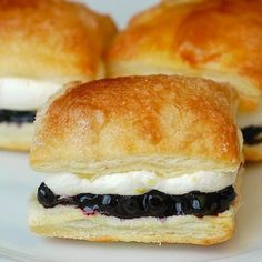 Blueberry Lemon Mini Puff Pastries | Community Post: 36 Springtime Recipes Perfect For Any Picnic