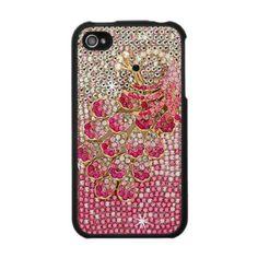 girly pink diamond peacock iphone 4 case speckcase