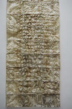 Haemorrage, abaca paper.: Ursula Von Rydingsvard at Yorkshire Sculpture Park.