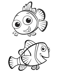 finding nemo marlin coloring pages