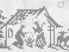Elizabeth Christianini uploaded this image to 'Croche/Crochet Filet - Religiosos'. See the album on Photobucket. Xmas Cross Stitch, Cross Stitch Pillow, Cross Stitching, Cross Stitch Embroidery, Crochet Cross, Crochet Chart, Crochet Patterns, Cross Stitch Designs, Cross Stitch Patterns