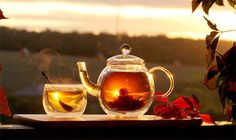 Chamomile and Vanilla hot tea with honey = comfort