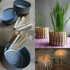 scatolette di tonno diventano vasi per piantine