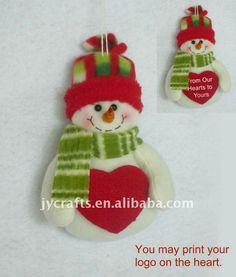 boneco de neve em tecido - Pesquisa Google