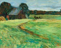 Wassily Kandinsky 1866 - 1944 Vasilevskoë - Scheune Mit Pferdchen (Vasilevskoë - Barn With Pony)