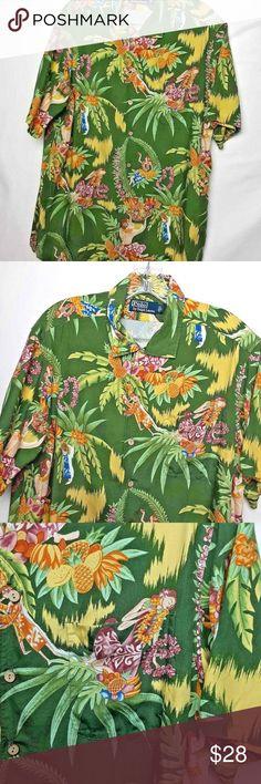 XQS Mens Stylish Loose Fit Plaid Long Sleeve Shirt Button Down Dress Shirts Green XXL