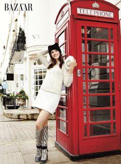 hôtel de mode: London Calling - Anne Hathway in Harper's Bazaar US