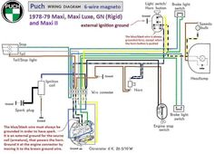Electrical and Ignition « Myrons Mopeds | Puch, Moped, DiagramPinterest