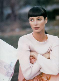 Christy Turlington photographed by Arthur Elgort for Vogue Magazine UK, June 1994