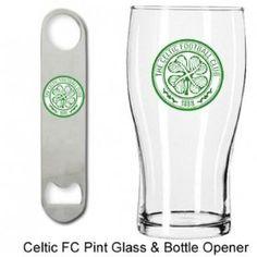 Celtic FC Pint Glass & Bottle Opener