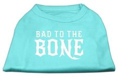 Which you like best? Bad to the Bone D...  Check it out here : http://www.allforourpets.com/products/bad-to-the-bone-dog-shirt-aqua-med-12