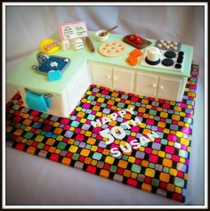 Kitchen Cooking cake - by 4littlepiggies @ CakesDecor.com - cake decorating website