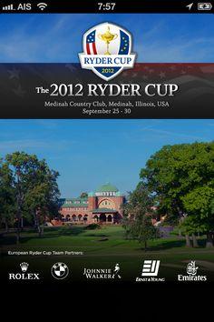 Ryder cup 2012 app