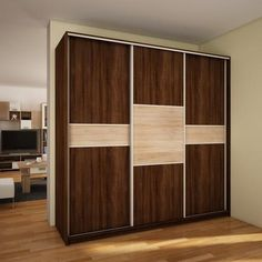 "Modern Wardrobe ''Puerto'' 3 slide door C 240cm x 216cm x 65cm High Quality Wardrobe ''Puerto'' L 240 C Wardrobe ""Puerto"" is a 3 door sliding wardrobe which inc"