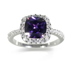 Lovely silver and bluey purple costume ring
